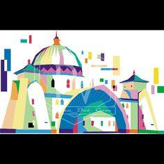 Masjid  #edisiRamadhan #done #wpap #anomali #wpapanomali  #digital #digitalart #popart #pesonaart