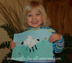 child's sheep craft with directions