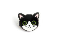 Tuxedo Cat Face Enamel Pin cute tuxedo cat pin cute cat hard