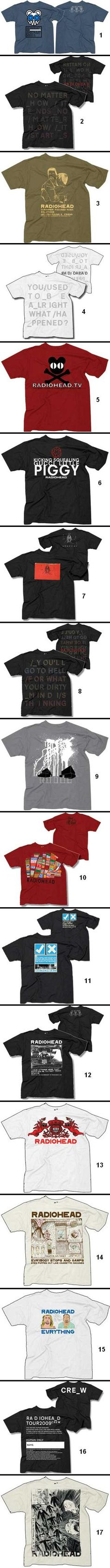 Radiohead shirts. Gotta catch 'em all!