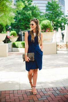 Donna Morgan Tulip Hem Dress for Business Casual