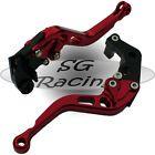 Short Red CNC Alloy Adjustable GP Brake & Clutch Levers Suzuki GSXR1000 L5 2015