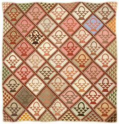Baskets & 1000s of Triangles  1850  New England Quilt Museum