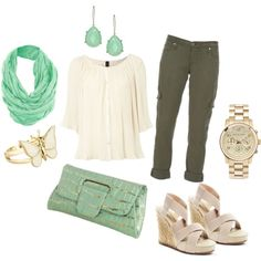 Mint and Gold, created by dadada20.polyvore.com