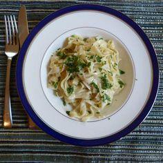 Fresh Fettuccine with Gorgonzola Sauce