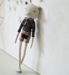 Soft toy 'Minki' by Russian designer Nechepurenka