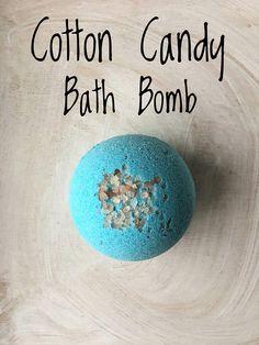 Cotton Candy Bath Bomb Surprise Color Bath Bomb Blue Bath