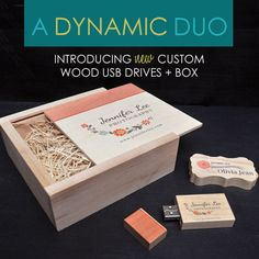 We are pleased to announce our brand new Custom Wood USB Drives and Box!