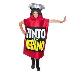 Disfraz original de Tinto de verano, Simula a una de las bebida  más popular de España en los días de máximo  calor. Puedes comprarlo en Todocarnaval.com