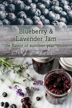 Blueberry Lavender Jam Blueberry lavender jam combines some of the best flavors and scents of summer, to be preserved and revisited throughout the year. Lavender Jam, Lavender Garden, Roses Garden, Fruit Garden, Lavender Fields, Fruit Flowers, Blueberry Flowers, Rose Flowers, Edible Flowers