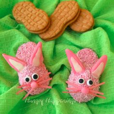Bunny Slipper Cookies made from Nutter Butters