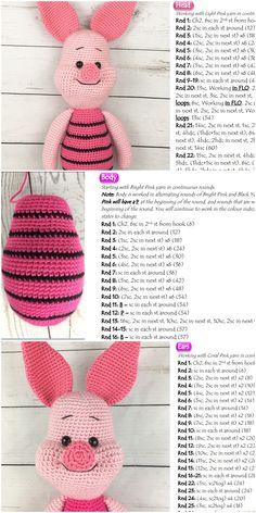 plus - Amigurumi Amigurumi Piglet Free Crochet Pattern – Crochet.plus Amigurumi Piglet Free Crochet Pattern – Crochet.plus Crochet Amigurumi Free Patterns, Crochet Animal Patterns, Stuffed Animal Patterns, Crochet Dolls, Free Crochet, Crochet Animals, Disney Crochet Patterns, Crochet Animal Amigurumi, Crochet Afghans