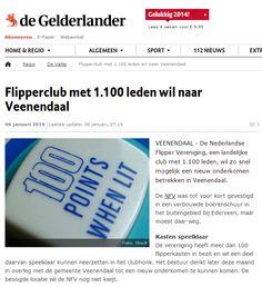 Flipperclub met 1100 leden naar Veenendaal.