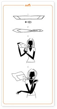 silk scarf tying tutorials via Hermes blog
