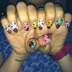 Ice Cream Nails!! I freaking love these!