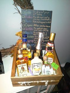 Guy Friendly Housewarming Gift A Diffe Bottle Of Liquor For New Homeowner Occations