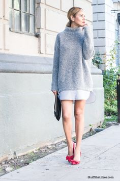how to layer a sweater dress