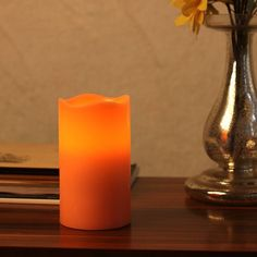 Home Impressions Battery Operate Melted Flameless Pillar LED Candle with Timer ** Read more reviews of the product by visiting the link on the image.