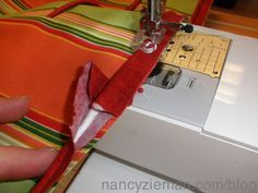 Sewing Techniques Couture How to Sew Piping Nancy Zieman Sewing A to Z More - Sewing piping in a seam adds great detail to handbags, accessories, and home dec projects. It's a process that may look challenging, but as you might guess, it Sewing Hacks, Sewing Tutorials, Sewing Crafts, Sewing Tips, Sewing Ideas, Diy Crafts, Sewing Basics, Sewing With Nancy, Love Sewing