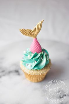Mermaid Cupcake Recipe Tail Topper DIY Recipe Mermaid cupcakes