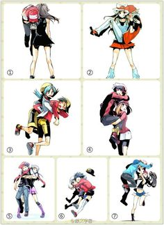 Pokemon Couples. Not only is it cute, but I love the poses as well.