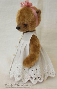 Amanda. Hand crafted miniature teddy bear Wendy Powell Chamberlain