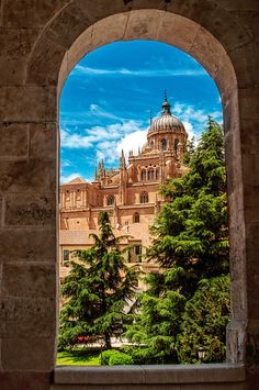Catedral from the window, Salamanca, Castilla Leon, Spain - photo: Emilio Cabilda on Places Around The World, Oh The Places You'll Go, Places To Travel, Places To Visit, Around The Worlds, Beautiful World, Beautiful Places, Spain And Portugal, Kirchen