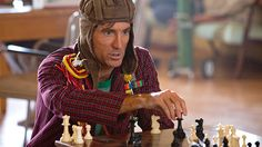 "Sharlto Copley as H.M. ""Howling Mad"" Murdock in A-Team (2010). Tried to jumpstart a ambulance with a defibrillator while trying to escape a mental hospital. Spinning around on hospital helicopter blades he sings his own version of ""You Spin Me Right Round"""
