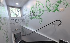 #décorationmurale escalier corporate -Mel et Kio - Design mural - centre linguistique Berlitz