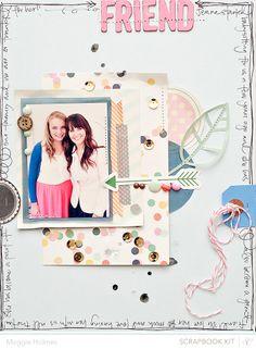#Papercraft #Scrapbook #Layout.  Friend > Maggie Holmes Studio Calico Nov Kits