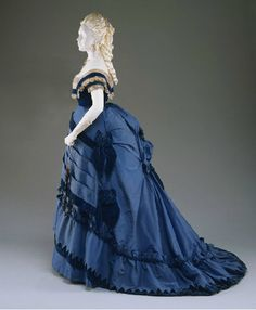 Evening dress ca. 1870 From the Philadelphia Museum of Art