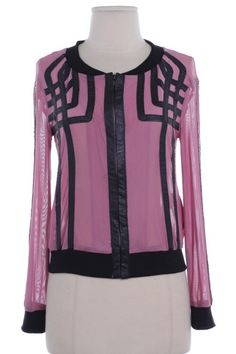 Sheer Patterned Jacket Rose: $40    Sizes Avail: S, M, L
