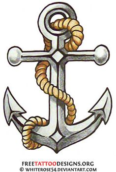 Old school anchor tattoo design