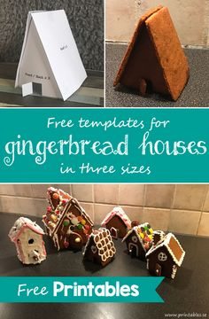 Template for gingerbread house 6 (free printable) White Gingerbread House, Gingerbread House Pictures, Gingerbread Icing, Gingerbread House Patterns, Cool Gingerbread Houses, Gingerbread House Template Printable, Templates Printable Free, Candy House, Biscotti