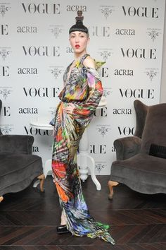 Michelle Harper at Vogue Mexico's cocktail party in honor of ACRIA.