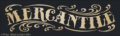 1522 - MERCANTILE-mercantile stencil primitive antique general store colonial