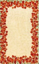 Trans Ocean 5' X 8' Neutral Visions II Poppies Rug - Yard Art Patio & Fireplace