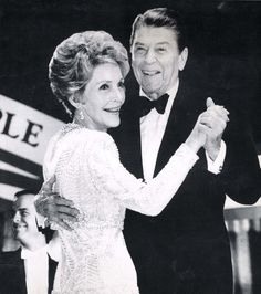 ronald reagan inauguration | President Reagan and Mrs. Reagan have the first dance at the Inaugural ...