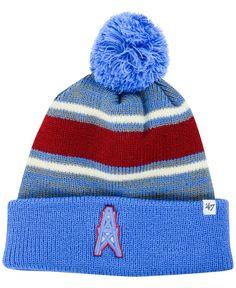 47 Brand Houston Oilers Fairfax Pom Knit Hat Houston Oilers 5c92226f216
