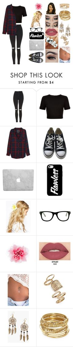"""""""Megan #2"""" by megxnmclxren ❤ liked on Polyvore featuring Topshop, Ted Baker, Rails, Converse, ASOS, Muse, Smashbox, Boohoo, ABS by Allen Schwartz and River Island"""