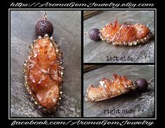 Druzy agate wire wrapped Gemstone essential oil