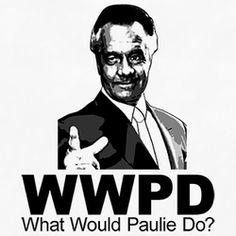 Wwjd Paulie Walnuts Sopranos T Shirt Tony Soprano, Mafia, Best Tv Shows, Favorite Tv Shows, Die Sopranos, Don Corleone, Full Sleeve Tattoo Design, Lisa S, Tough Guy