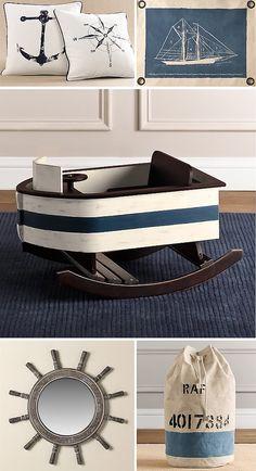 restoration hardware nautical themed nursery/missesboy.com