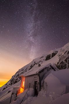 The miky way above the Demmevass DNT hut, Hordaland, Norway