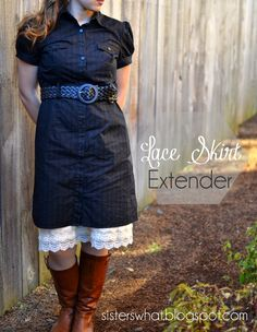 Sisters, What!: Lace Skirt Extender Tutorial