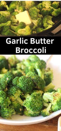 Garlic Butter Broccoli Frozen Broccoli Recipes, Sauce For Broccoli, Butter Broccoli, Garlic Butter, Garlic Broccoli, Broccoli Dishes, Broccoli Soup, Lasagna Side Dishes, Simple