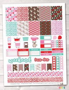 Puppy Love Printable Planner Stickers Weekly Kit – Erin Bradley/Ink Obsession Designs