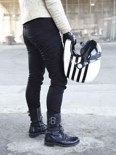 Women's Jet Black Protective Riding Jeans tobacco kevlar jeans White Motorcycle, Motorcycle Jeans, Biker Gear, Motorcycle Style, Motorcycle Outfit, Motorcycle Accessories, Kevlar Jeans, Womens Motorcycle Fashion, Women Motorcycle