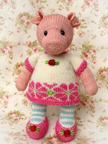 Heidi Bears: :: Pigwig the Piglet Knitting Pattern ::