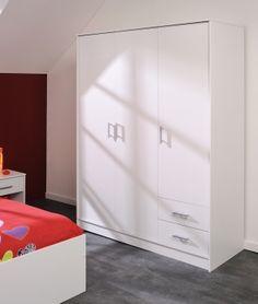 Amazing Kleiderschrank Fabio I M bel wei Schlafzimmer Kleiderschrank